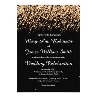 Elegant Wedding Save The Date Stars Gold Card