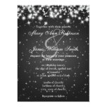 "Elegant Wedding Save The Date Winter Sparkle Black 6.5"" X 8.75"" Invitation Card"