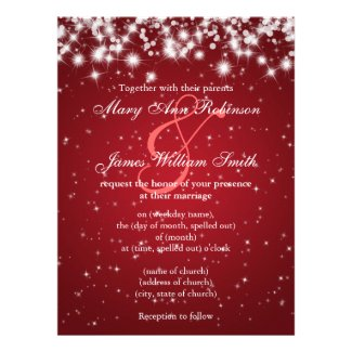 Winter, Holiday and Christmas Wedding Invitations - Unique and ...