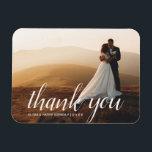 "Elegant Wedding Script | Wedding Photo Magnet Gift<br><div class=""desc"">Add your best wedding photo and custom message to this elegant wedding photo magnet. An special keepsake for family and friends.</div>"