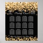 Elegant Wedding Seating Chart Gold Lights Poster