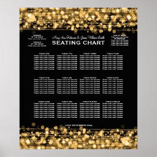 Elegant Wedding Seating Chart Party Sparkles Gold