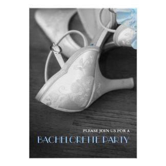 Elegant Wedding Shoes Photography Bachelorette Announcements