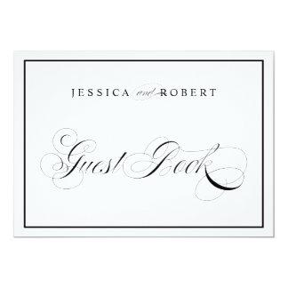 Elegant Wedding Sign Guest Book Black Border Card