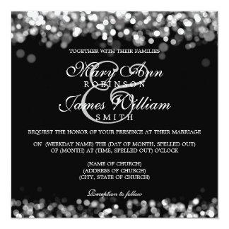 Elegant Wedding Silver Lights Card