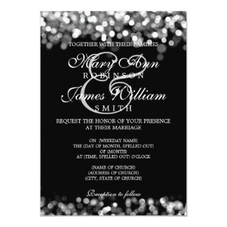 Elegant Wedding Silver Lights Card