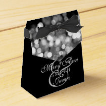 Elegant Wedding Silver Lights Favor Box
