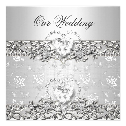 White And Silver Weding Invitations 034 - White And Silver Weding Invitations