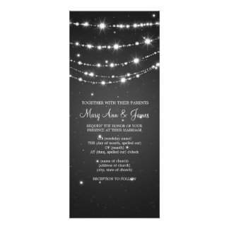 Elegant Wedding Sparkling Chain Black Custom Invite