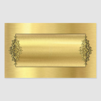 Elegant Wedding Stickers, Gold