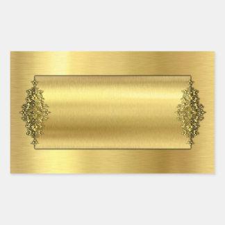 Elegant Wedding Stickers, Gold Rectangular Sticker