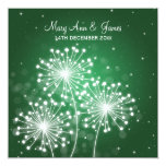 Elegant Wedding Summer Sparkle Emerald Green Card