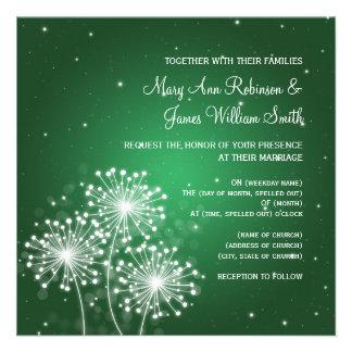 Elegant Wedding Summer Sparkle Emerald Green Invite
