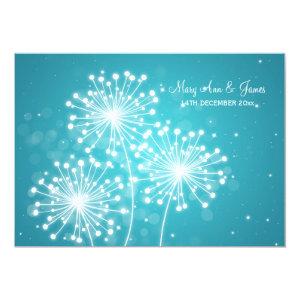 Elegant Wedding Summer Sparkle Turquoise 5x7 Paper Invitation Card