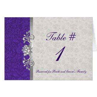 Elegant Wedding Table Card card