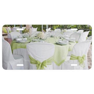 Elegant Wedding table License Plate