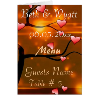Elegant  Wedding Table & Menu Cards