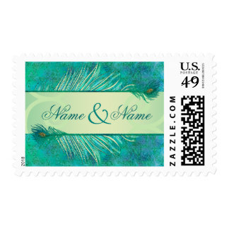 Elegant Wedding text banner postage