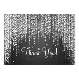 Elegant Wedding Thank You Note Night Dazzle Black 5x7 Paper Invitation Card