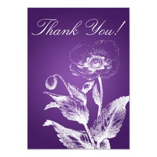 Elegant Wedding Thank You Note Poppy Purple Card
