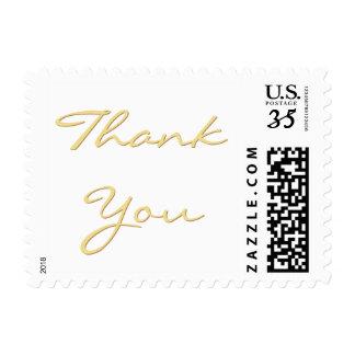 Elegant Wedding Thank You Note USPS Postage Stamp