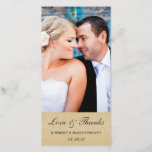"""Elegant Wedding Thank You Photo Card / Champagne<br><div class=""""desc"""">Features a gold glitter-like background with dark gray text.  Easy to customize with your own photo and text.  Makes a great &quot;thank you&quot; with a blank back on the card for writing a personal note.  Does not contain actual glitter.</div>"""