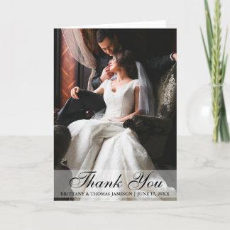 Elegant Wedding Thank You Photo Folding Card
