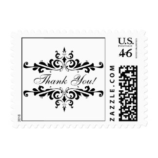 Elegant Wedding Thank You Postage Stamp