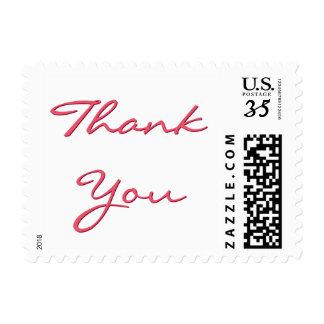 Elegant Wedding Thank You Postcard Postage Stamp