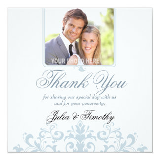 Elegant Wedding Thank You (Square) Card