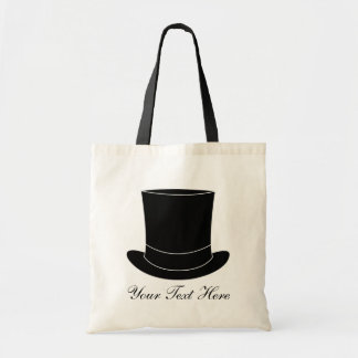 Elegant wedding tote bag with tophat | Personalize