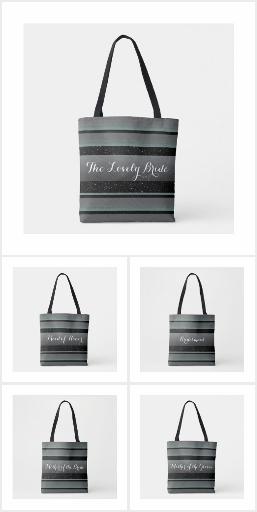 Elegant Wedding Tote Bags