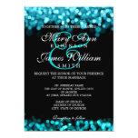 Elegant Wedding Turquoise Lights Card