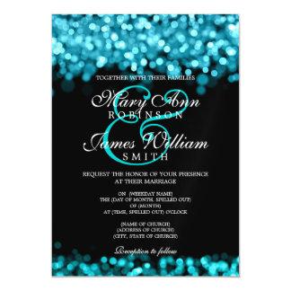 Elegant Wedding Turquoise Lights Magnetic Card
