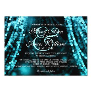 Elegant Wedding Turquoise String Lights Card