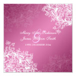 Elegant Wedding Vintage Swirls Pink Card