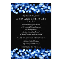 Elegant Wedding Vow Renewal Blue Hollywood Glam 4.5x6.25 Paper Invitation Card (<em>$2.15</em>)