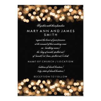 Elegant Wedding Vow Renewal Gold Hollywood Glam Card