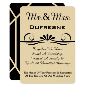 Beach Themed Elegant Wedding Vow Renewal Invitation