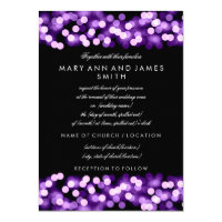 Elegant Wedding Vow Renewal Purple Hollywood Glam Card (<em>$2.15</em>)