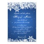 Elegant Wedding Winter Snowflakes Blue Sapphire Card