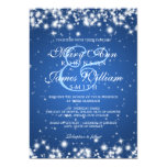 Elegant Wedding Winter Sparkle Blue Card