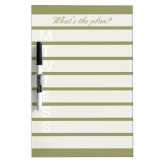 Elegant weekly calendar dry erase board