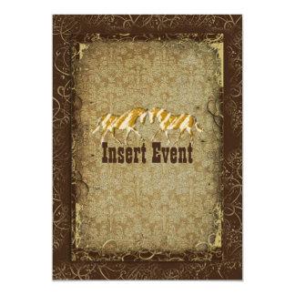 Elegant western horse ranch party invites