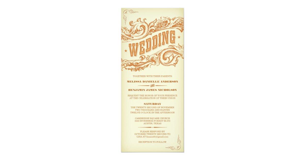 Western Wedding Invites: Elegant Western Wedding Invitations