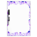 Elegant Whimsical Purple Pink Birds on Branches Dry-Erase Whiteboard