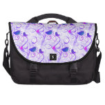 Elegant Whimsical Purple Pink Birds on Branches Laptop Computer Bag