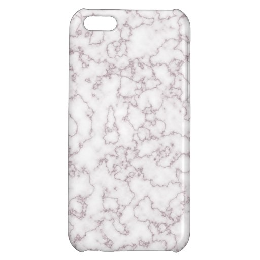 Elegant White and Pink Hue Marble Block Effect Case For iPhone 5C
