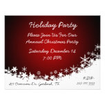 Elegant White and Red Christmas Party Invitation