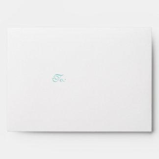 Elegant White and Teal Blue Envelope